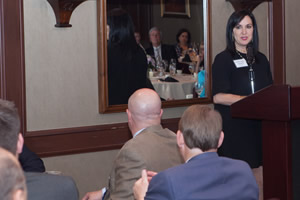 speaker at center for family owned business dinner